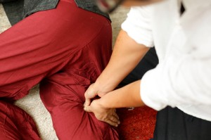 Leg back pain stiff Nice massage Keita France